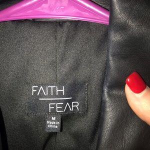 Jackets & Blazers - Faith over Fear black leather jacket.